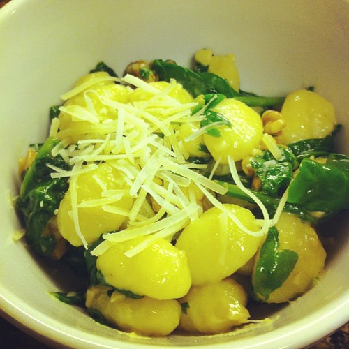 Brown Butter Gnocchi with Spinach & Walnuts #wfd