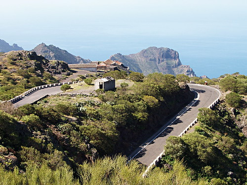 Mountain road on Tenerife