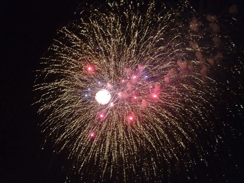 Fireworks over Urbandale, Iowa on the 4th of July 2012