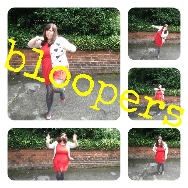 red dress bloopers