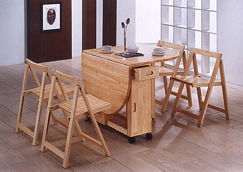 Butterfly super space saving drop leaf table 4 folding - Table a manger pliante ...