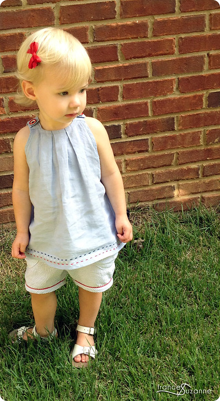 Pleated Penny Top and Puppet Show Shorts