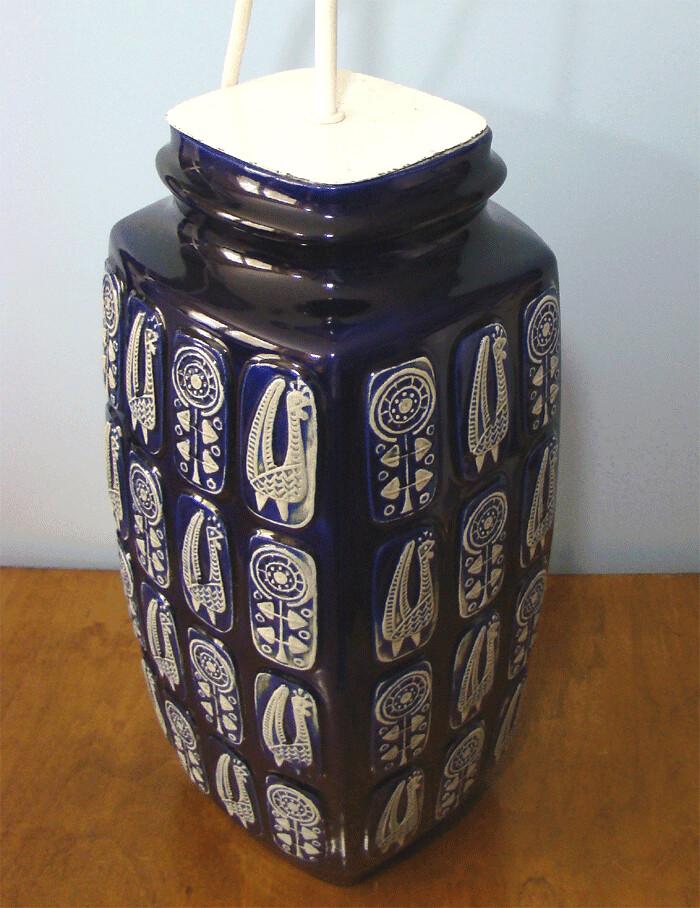 bay keramik tisch lampe design by bodo mans lamp base west germany 60s ebay. Black Bedroom Furniture Sets. Home Design Ideas
