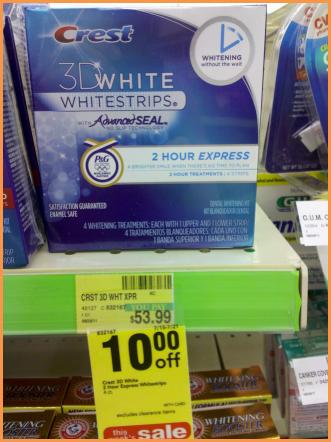 CVS: Crest 3D Whitestrips 2 Hour Express $29 (47% savings