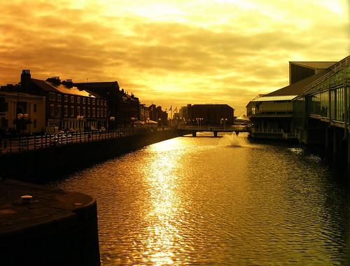 city light sky sun water fountain glass silhouette clouds sunrise golden dock sunny kingston shade hull file7