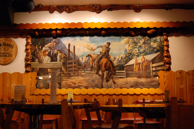 cowboy bar mural a photo on flickriver. Black Bedroom Furniture Sets. Home Design Ideas