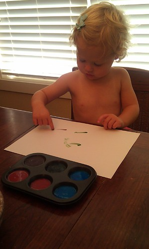 3pm.. homemade finger paint! by sweet mondays