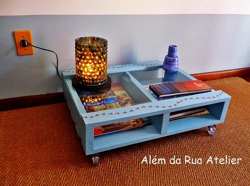 mesa de centro feita com pallet