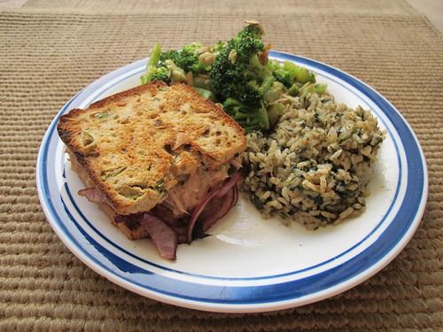 Tuna Melt on Olive Bread