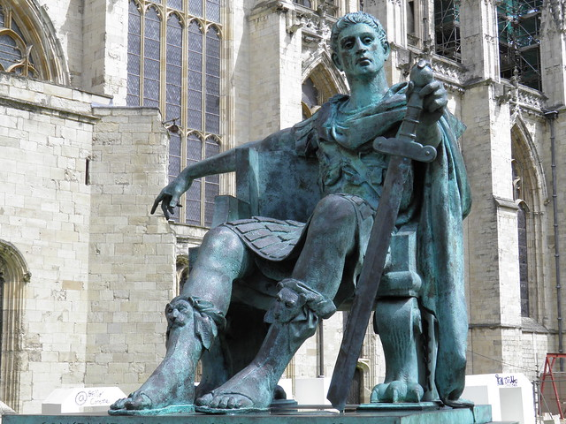 Constantine the Great Statue in York, commissioned in 1998 and sculptured by Philip Jackson, Eboracum, York, England