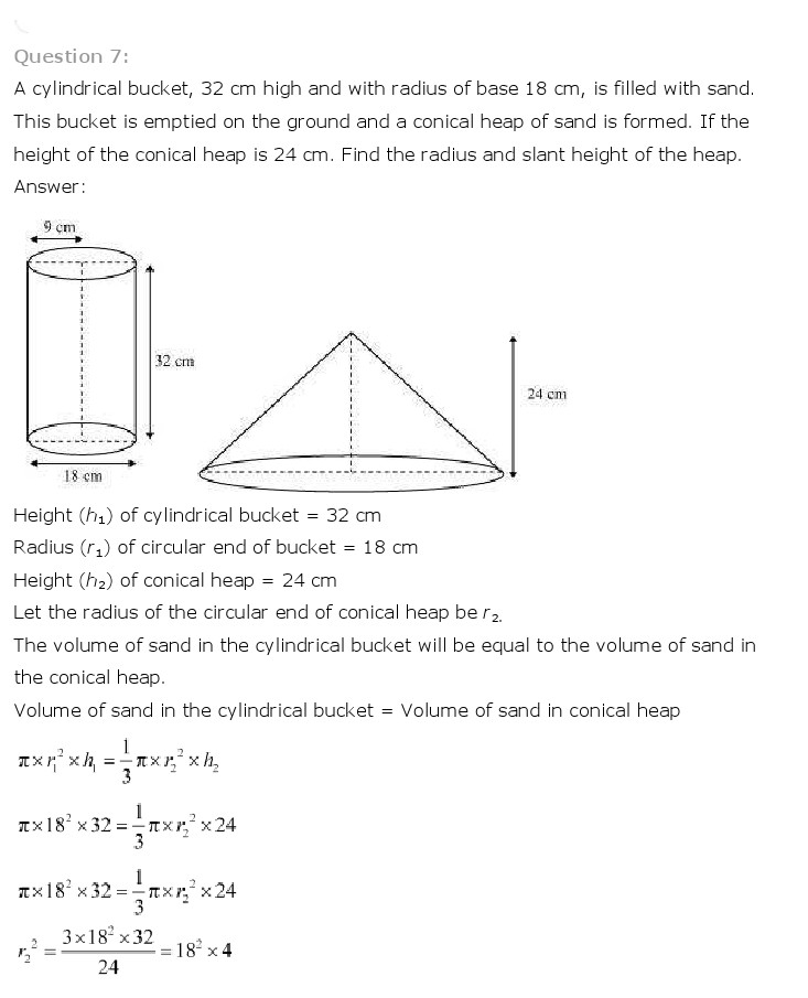 NCERT Solutions For Class 10 Maths Chapter 13 Surface Areas and Volumes PDF Download 2018-19 freehomedelivery.net