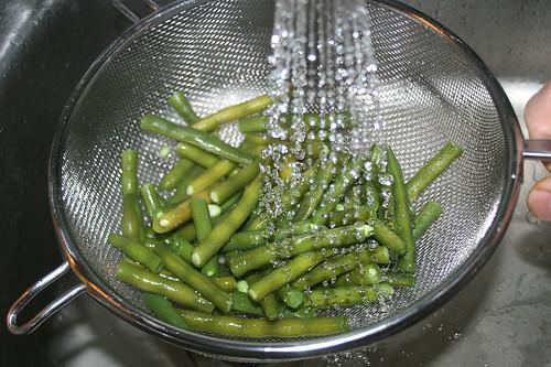 20 - Bohnen abschrecken / Drain beans
