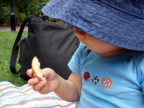 pondering the bagel