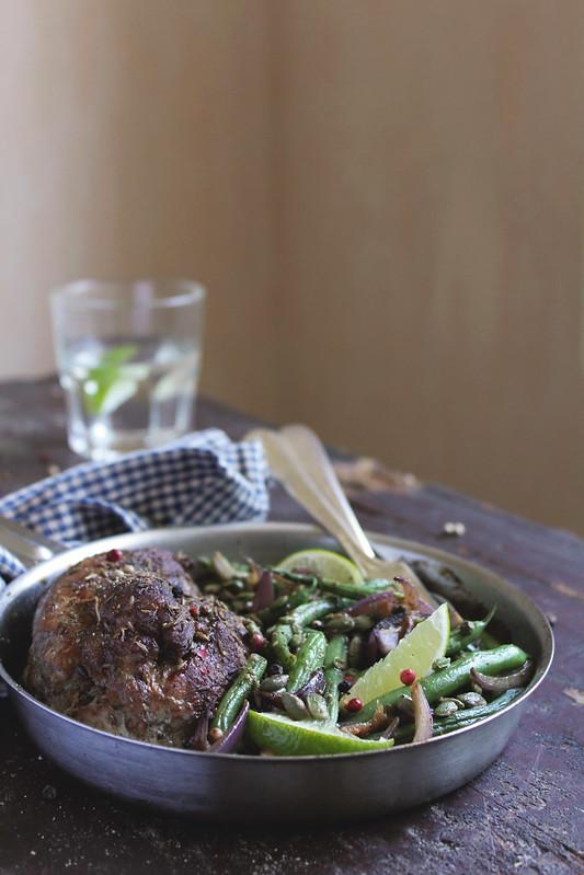 Pork Fillet with Vegetable Saute