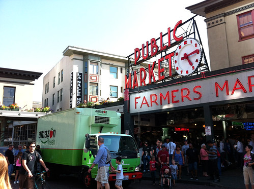 Pike Place Market - Amazon Truck