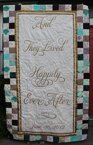 Happily Ever After Wedding Signature Quilt