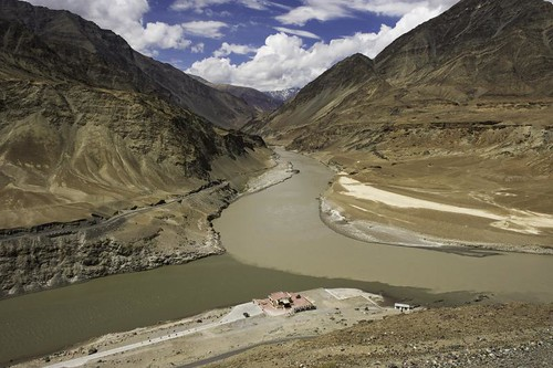 -confluence of the Indus and Zanskar2. Ladaakh. India