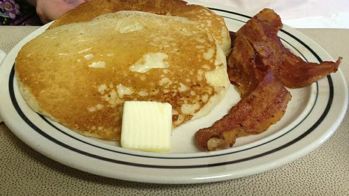 Pancakes and bacon