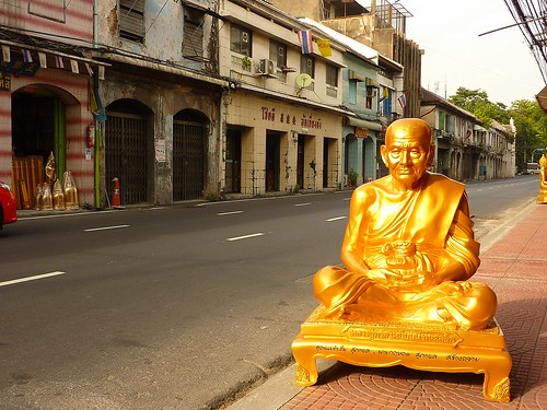 Buddha statue waiting to be delivered