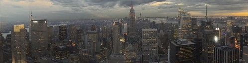 Panoramic view of New York from Top of the Rock