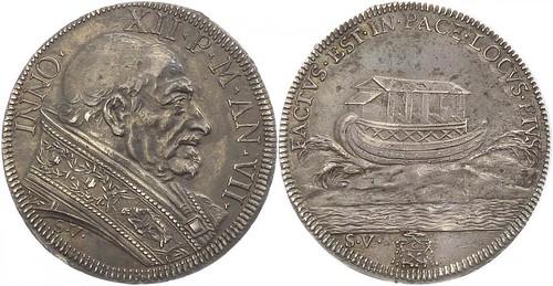 Half Piastra AN VII (1697-98)  Rome