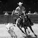 Cowboy & Horse B&W by Gabriele Di Credico
