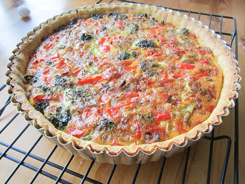 Cornmeal Crust Quiche Recipe