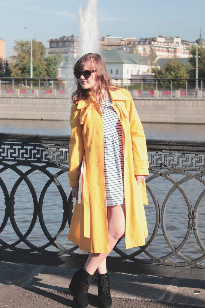 yellow, elizabethrd, zara strips dress