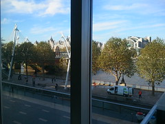 View from this morning's office at South Bank Centre even has free wifi