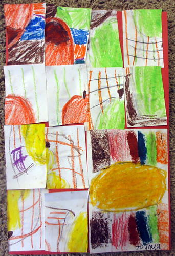 abstracts with oil pastels