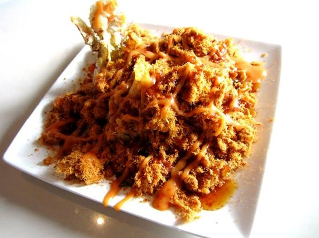 Zen - soft shell crab with meat floss