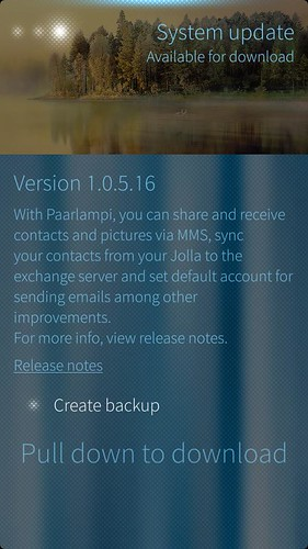 Sailfish OS v.1.0.5.16