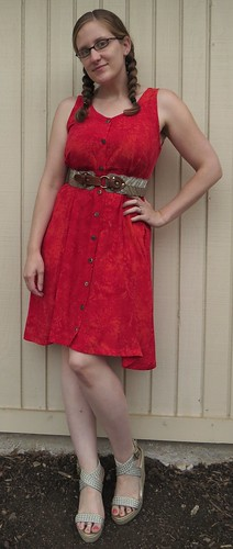 Red Herring Dress - After
