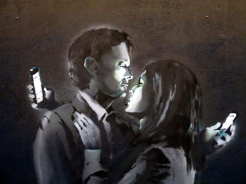 Banksy - Mobile Lovers