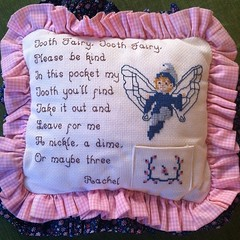 My #ToothFairy pillow from childhood; #handmade by #Mom! #picoftheday