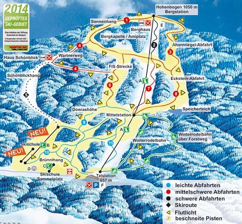 Hohenbogen - mapa sjezdovek