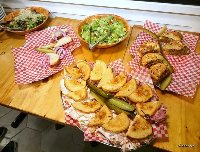 sandwich platters at Caplansky's