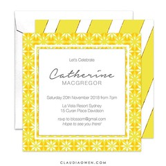 I have an inexplicable attraction to yellow #partyinvitations