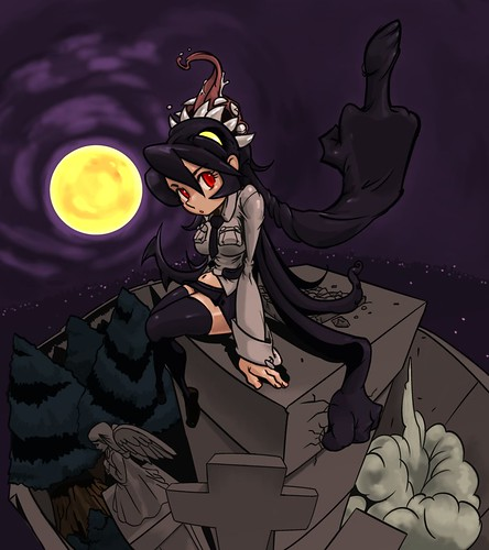 Skullgirls' Filia Fan Art by Pixvi's 端ヶ家リカ