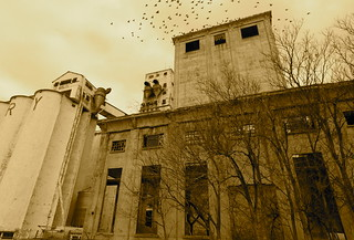 Abandoned Attebury grain elevator, Wichita Falls TX