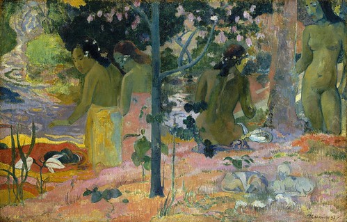 Paul Gauguin - The Bathers [1897] by Gandalf's Gallery