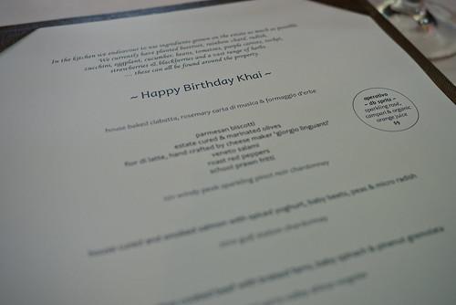 Pe Khai's special menu