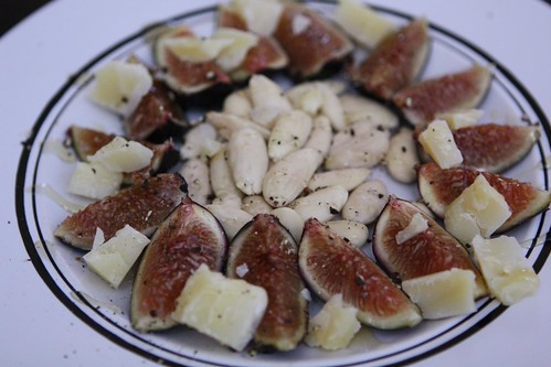 Figs with Cooperstown Toma Celena and Raw Almonds