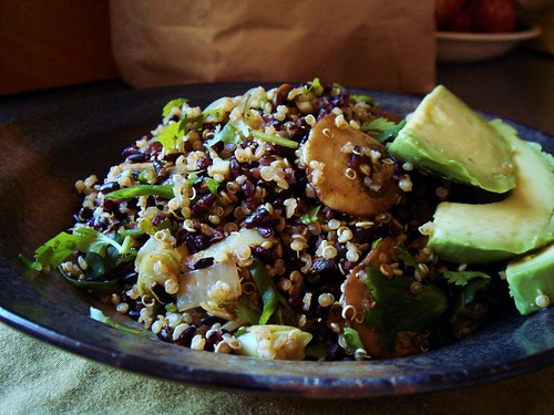Forbidden Black Rice & Quinoa Salad with Avocado