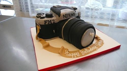 Nikon FM2 Camera Cake by CAKE Amsterdam - Cakes by ZOBOT