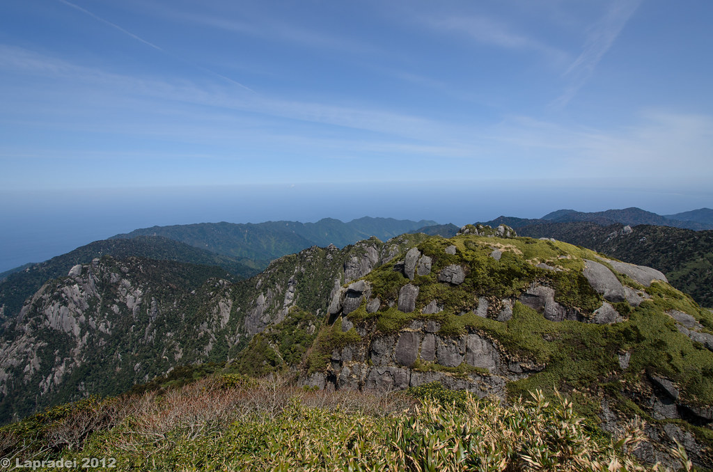 永田岳山頂からの眺め