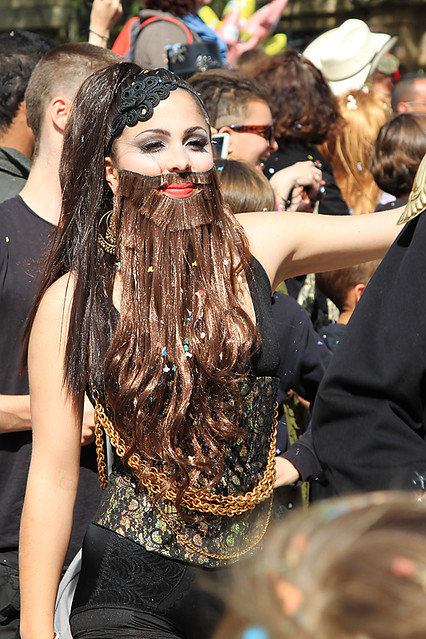 A bearded lady at the Carnaval in Aix-en-Provence, France