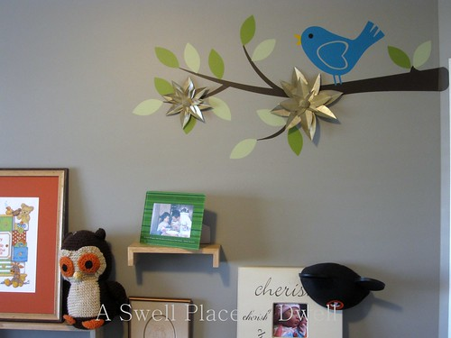 Free Paper Flowers on a Wall Decal