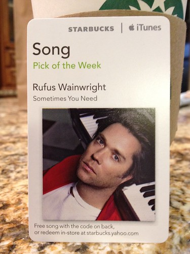 Starbucks iTunes Pick of the Week - Rufus Wainwright - Sometimes You Need