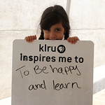 KLRU inspires me to... be happy and learn.